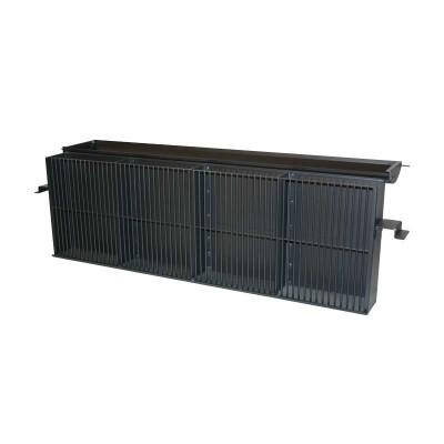 Briefkasten mit Zeitungsfach, grau RAL 7016