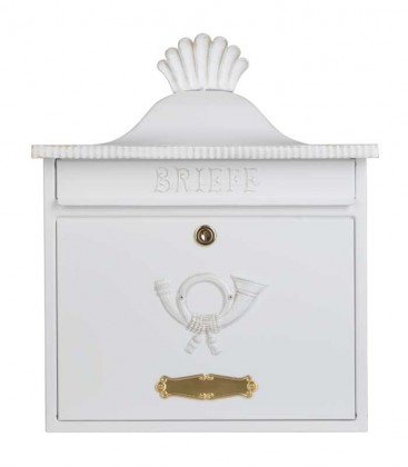 Letterbox TRAKO in country house style, white-gold