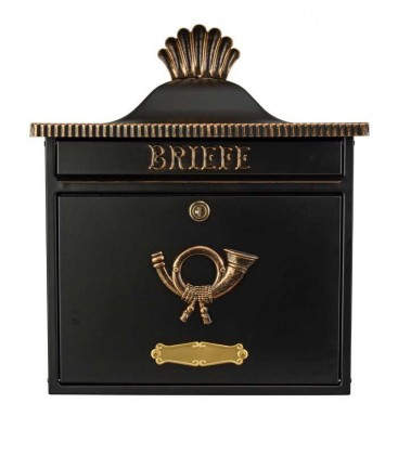 Letterbox TRAKO in country house style, black-gold