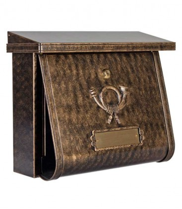 Letterbox in country house style MULTI, terra-bronce