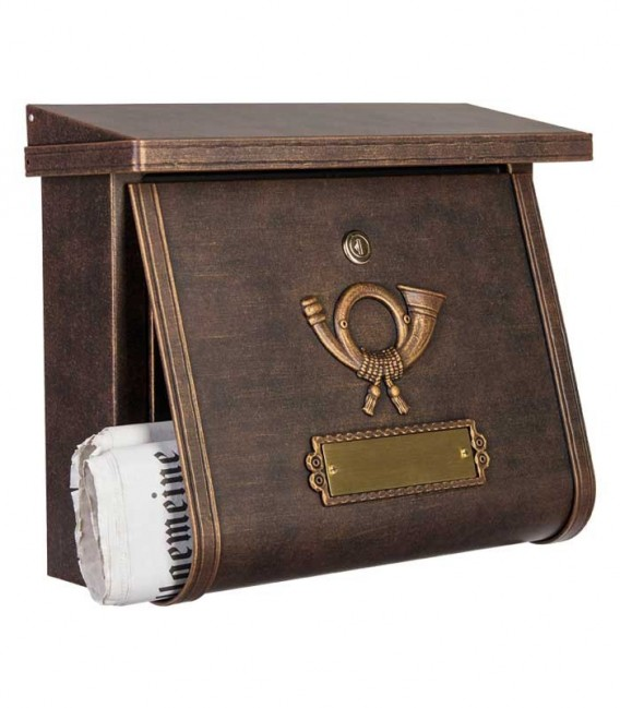 Letterbox in country house style MULTI, brown-gold