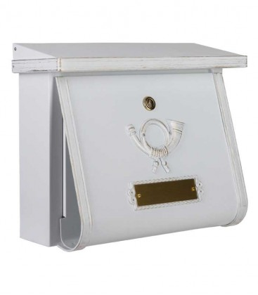 Letterbox in country house style MULTI, white