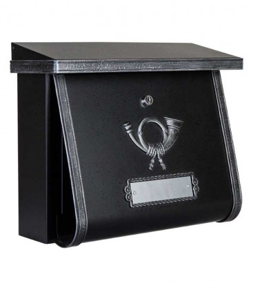 Letterbox in country house style MULTI, black-antique