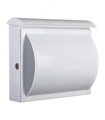 Letterbox QUELO with newspaper compartment, white