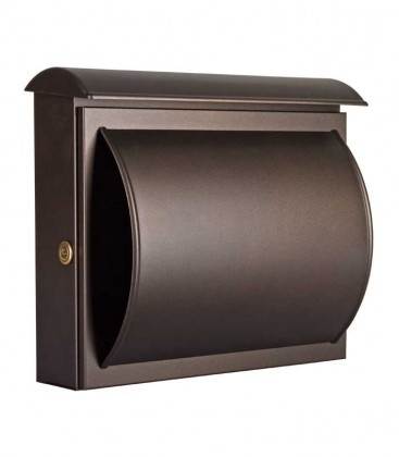 Letterbox QUELO with newspaper department, mocha brown