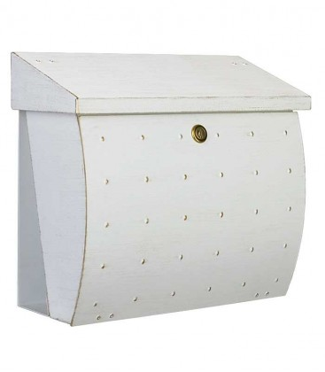 Letterbox KROSIX with newspaper compartment, white-gold