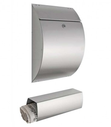 Newspaper box LA-OLA, stainless steel