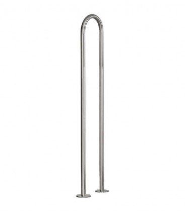 Letterbox stand bent for doweling 140 cm, stainless steel