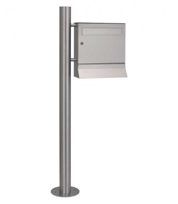 Standing letterbox MALYPSO with newspaper compartment for doweling