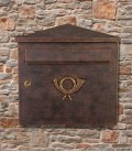 Letterbox PINA, brown-gold