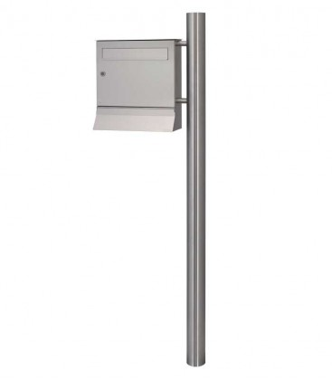 Letterbox MALYPSO with newspaper compartment, stainless steel