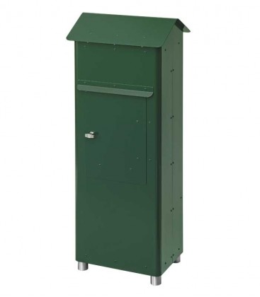 Standing post box GRAN SECURO 02, dark green