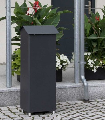Standing post box GRAN SECURO 02, black-mica