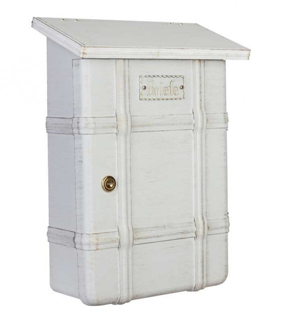 Letterbox ECARO, stainless steel white-gold