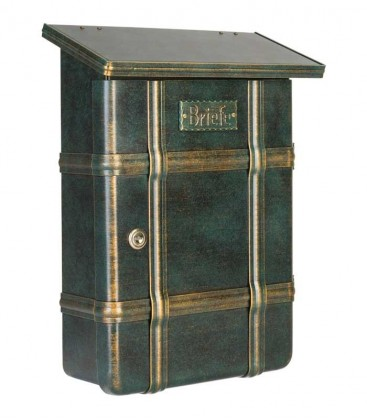 Letterbox ECARO, stainless steel green-gold