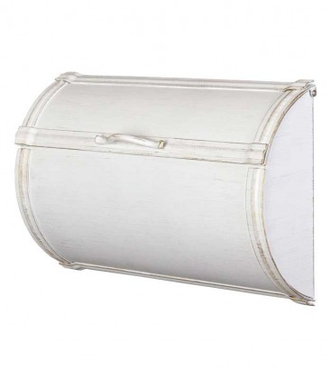 Newspaper box TORNO, stainless steel white-gold
