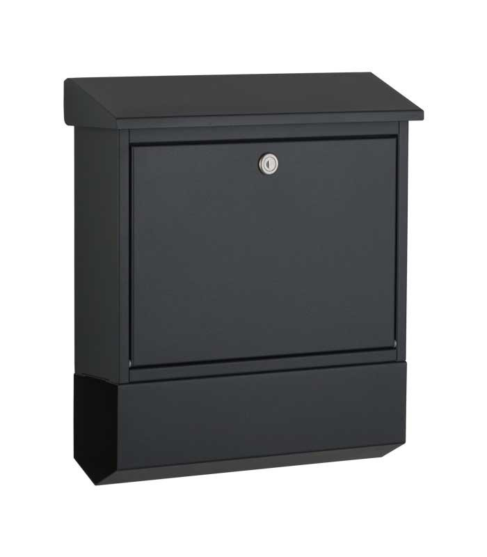 briefkasten mit zeitungsfach grauer wandbriefkasten ral 7016. Black Bedroom Furniture Sets. Home Design Ideas