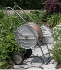 Garden hose trolley, stainless steel