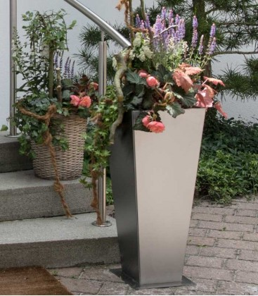 Stainless Steel Planter, 79 cm