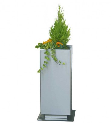 Stainless steel outdoor planter square, 70 cm
