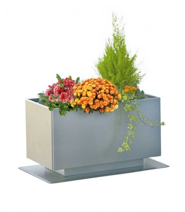 Stainless steel outdoor planter, 35 cm