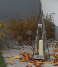 Decorative Candle Lantern Pyramid 97 cm, Stainless Steel