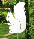 Garden Sculpture SQUIRREL, Stainless Steel