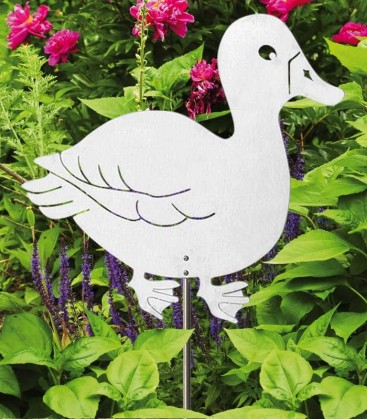 Garden Sculpture DUCK – big, Stainless Steel