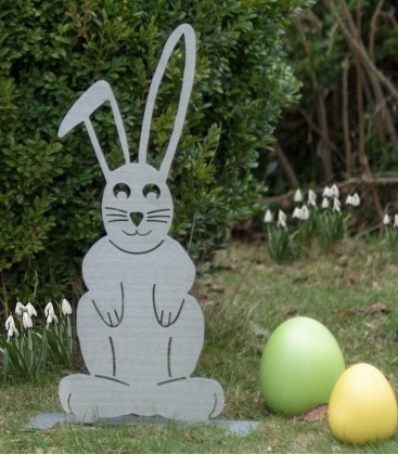 Garden Figure EASTER BUNNY, Stainless Steel