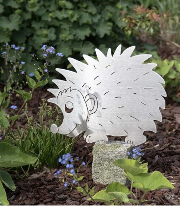 Garden Figure HEDGEHOG, Stainless Steel