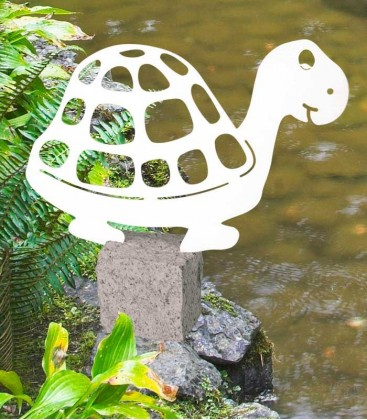Garden Figure TURTLE, Stainless Steel