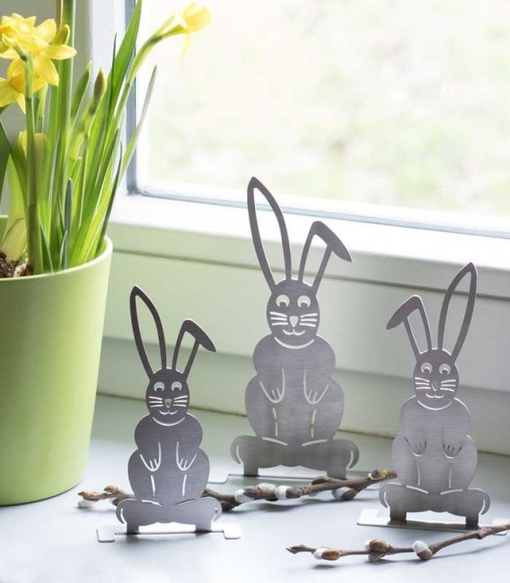Stainless steel bunny decoration