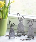 Decoration Set BUNNY, Stainless Steel