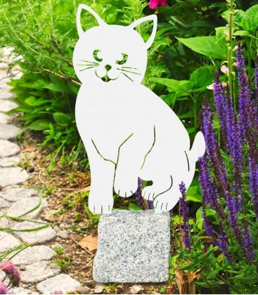 Garden Figure CAT, Stainless Steel