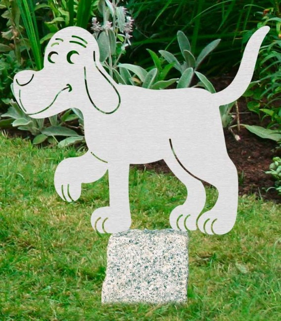 Stainless Garden Figure DOG