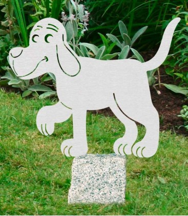 Garden Figure DOG, Stainless Steel