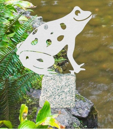 Garden Figure FROG, Stainless Steel