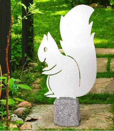 Garden Figure SQUIRREL, Stainless Steel