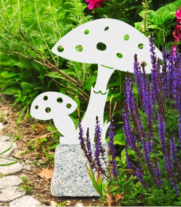 Garden Figure TOADSTOOL, Stainless Steel