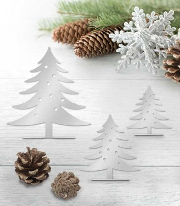 Stainless steel deco-set christmas tree