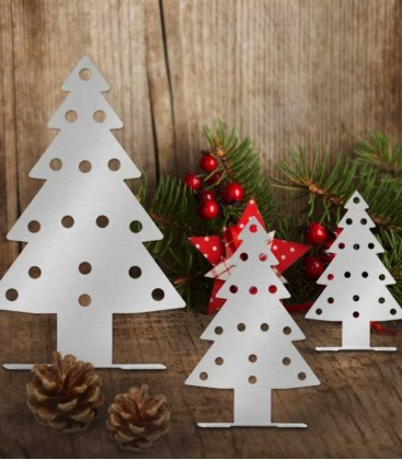 Deco set christmas tree, stainless steel