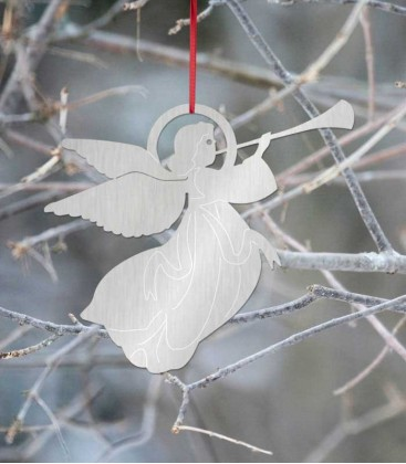 Hanging Christmas angel, stainless steel