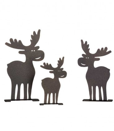 Decoration Set ELK, brown