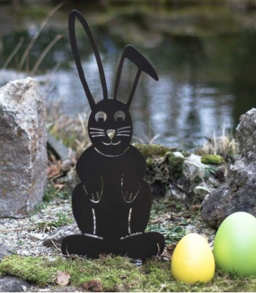 Garden Figure EASTER BUNNY, brown