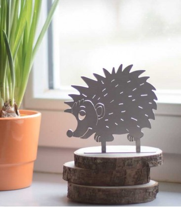 Stainless steel deco figure HEDGEHOG