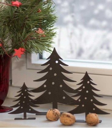 Decoration Set CHRISTMAS TREE, brown