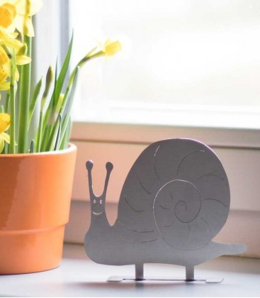 Stainless steel deco figure SNAIL
