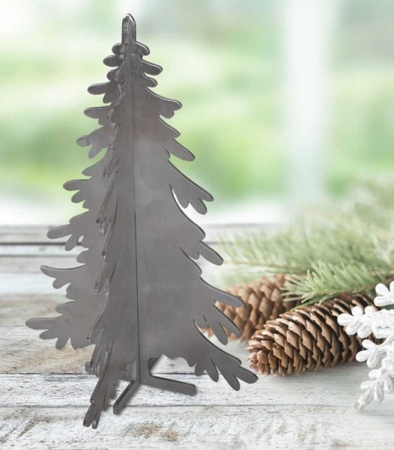 Stainless steel 3D puzzle christmas tree
