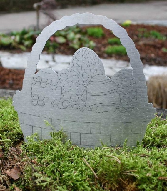 Stainless steel deco EASTER BASKET