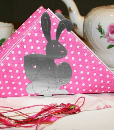 Stainless napkin holder EASTER BUNNY